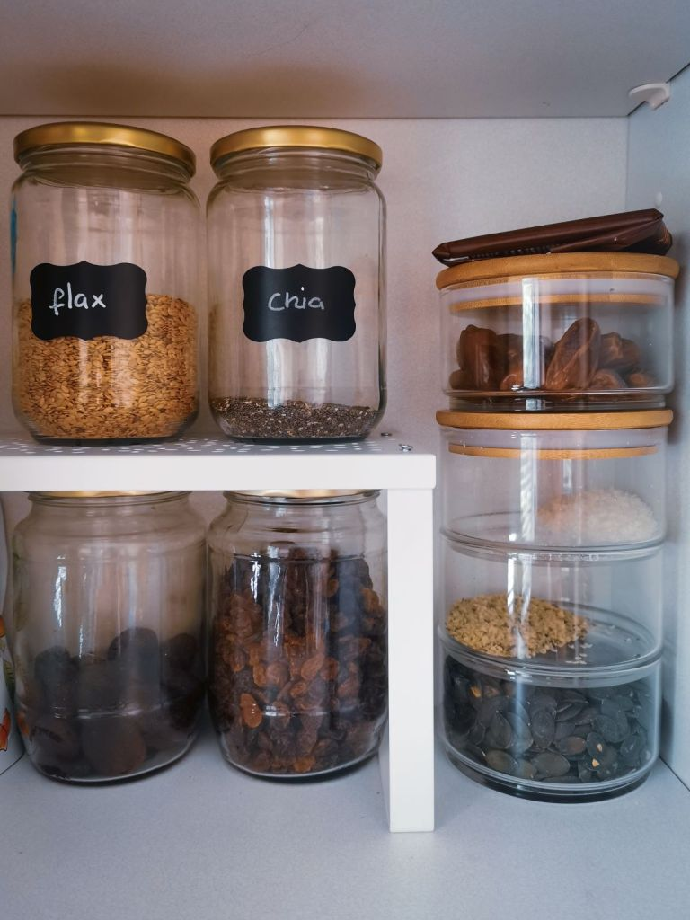 stackable jars to make the most of your cupboard storage